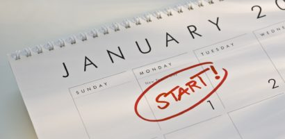 January Goals Calendar
