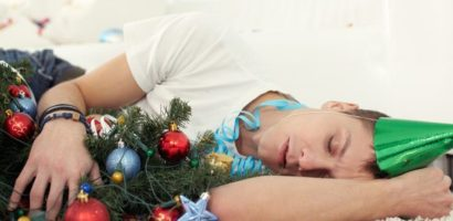 Man Sleeping Christmas