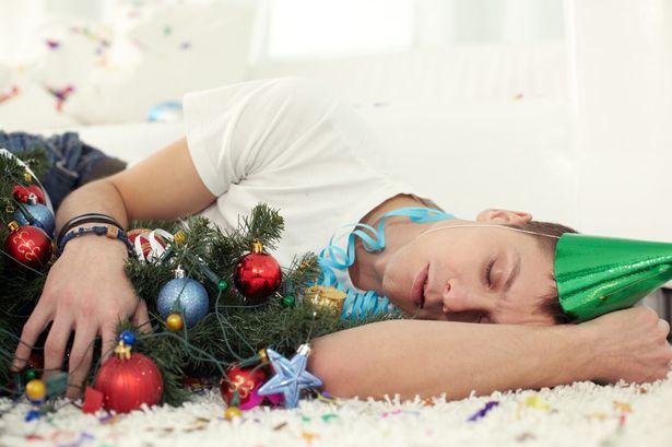 Man Sleeping Christmas