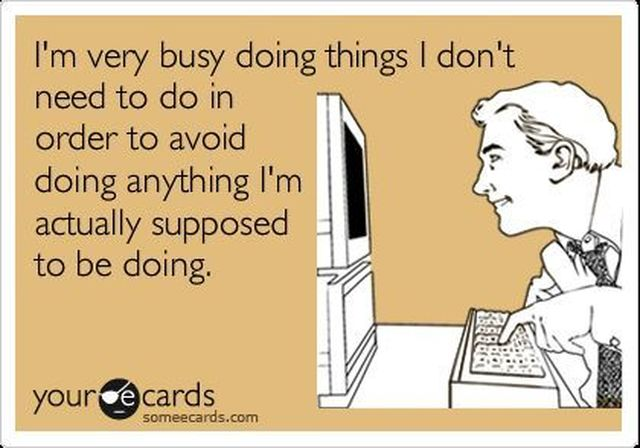 ecard of procrastination